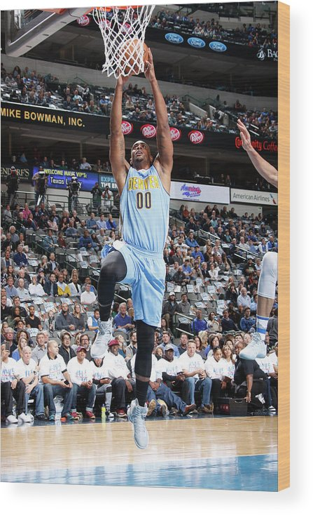Nba Pro Basketball Wood Print featuring the photograph Darrell Arthur by Danny Bollinger