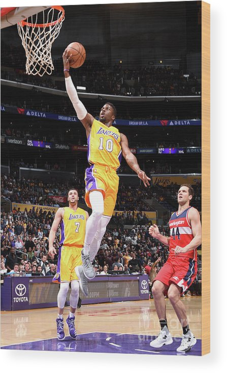 Nba Pro Basketball Wood Print featuring the photograph David Nwaba by Andrew D. Bernstein