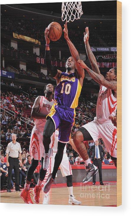 Nba Pro Basketball Wood Print featuring the photograph David Nwaba by Bill Baptist