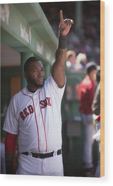 East Wood Print featuring the photograph David Ortiz by Rob Tringali