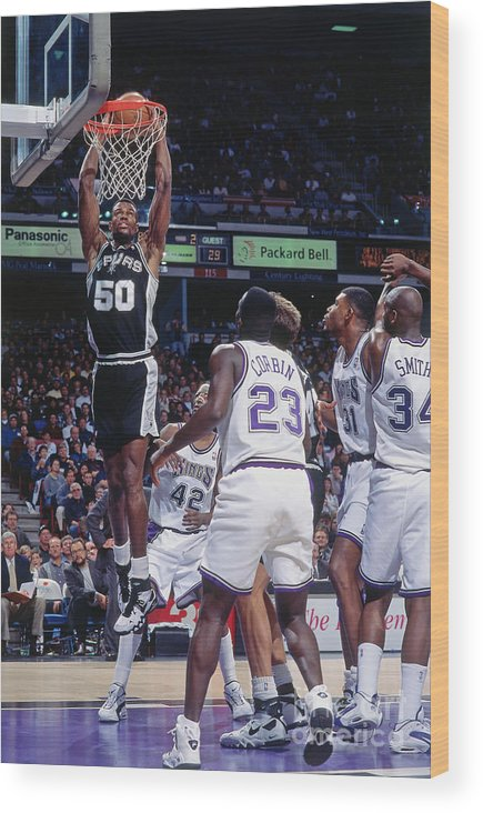 Nba Pro Basketball Wood Print featuring the photograph David Robinson by Rocky Widner