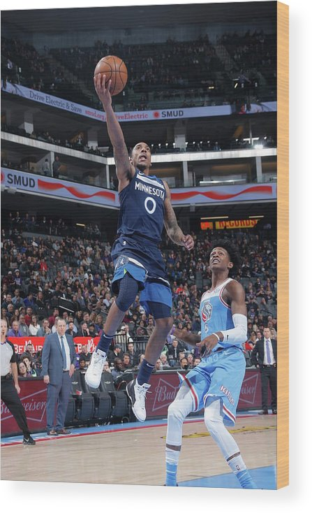 Nba Pro Basketball Wood Print featuring the photograph De'aaron Fox and Jeff Teague by Rocky Widner