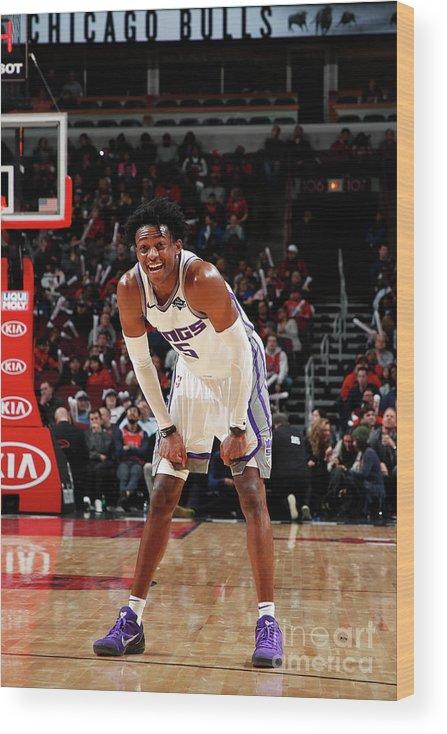 Nba Pro Basketball Wood Print featuring the photograph De'aaron Fox by Jeff Haynes