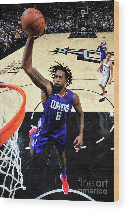 Nba Pro Basketball Wood Print featuring the photograph Deandre Jordan by Mark Sobhani