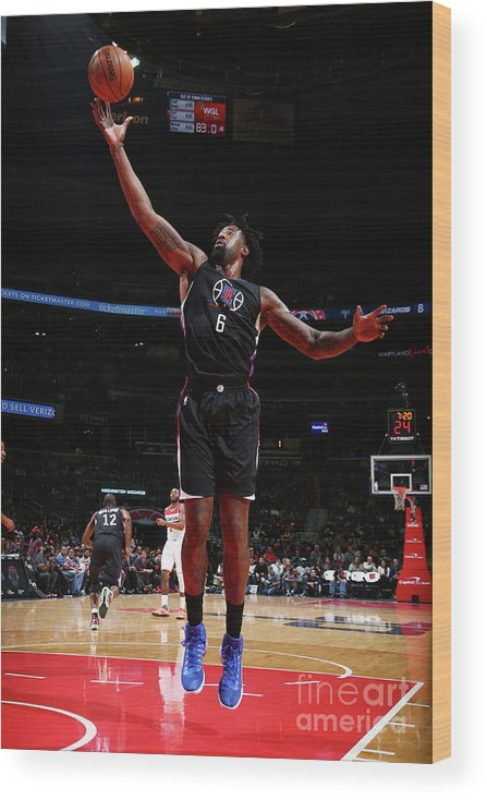 Nba Pro Basketball Wood Print featuring the photograph Deandre Jordan by Ned Dishman