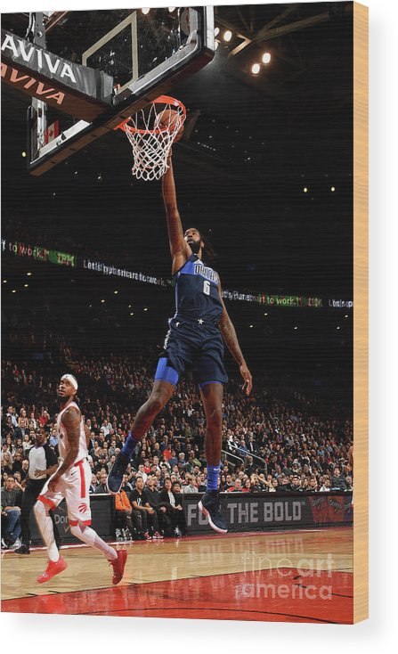 Nba Pro Basketball Wood Print featuring the photograph Deandre Jordan by Ron Turenne