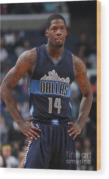 Nba Pro Basketball Wood Print featuring the photograph Deandre Liggins by Joe Murphy