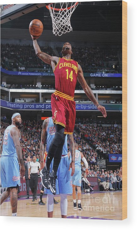 Nba Pro Basketball Wood Print featuring the photograph Deandre Liggins by Rocky Widner