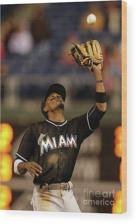 People Wood Print featuring the photograph Dee Gordon by Brian Garfinkel