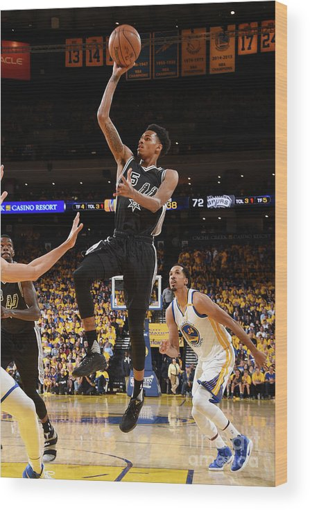Playoffs Wood Print featuring the photograph Dejounte Murray by Andrew D. Bernstein