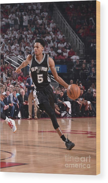 Playoffs Wood Print featuring the photograph Dejounte Murray by Bill Baptist