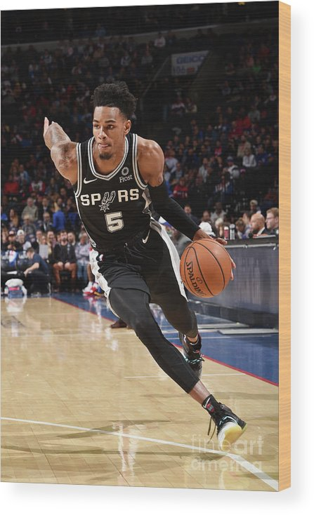 Nba Pro Basketball Wood Print featuring the photograph Dejounte Murray by David Dow