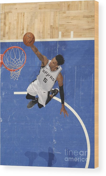 Nba Pro Basketball Wood Print featuring the photograph Dejounte Murray by Fernando Medina