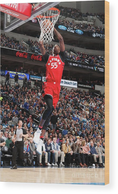 Nba Pro Basketball Wood Print featuring the photograph Delon Wright by Danny Bollinger