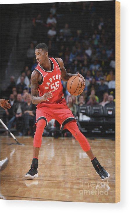 Nba Pro Basketball Wood Print featuring the photograph Delon Wright by Garrett Ellwood