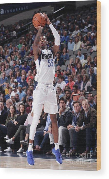 Nba Pro Basketball Wood Print featuring the photograph Delon Wright by Glenn James