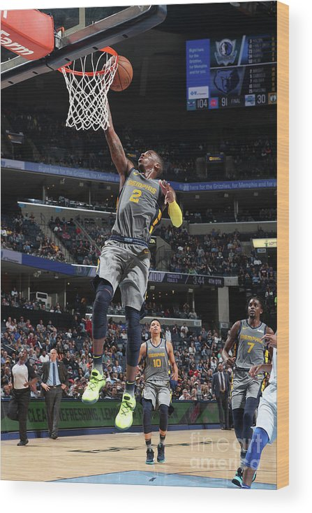 Nba Pro Basketball Wood Print featuring the photograph Delon Wright by Joe Murphy