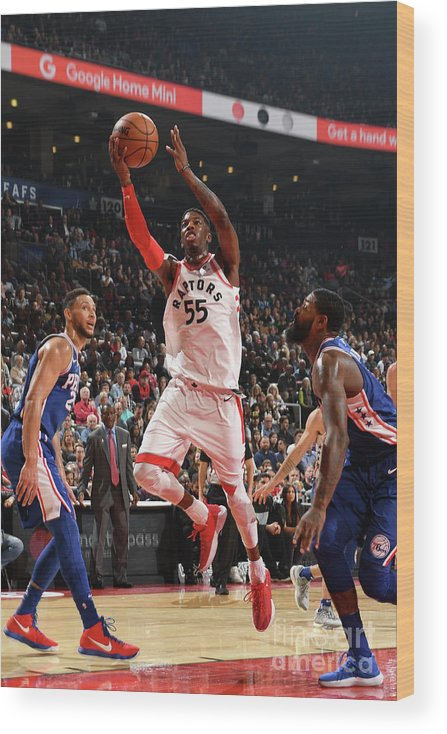 Nba Pro Basketball Wood Print featuring the photograph Delon Wright by Ron Turenne