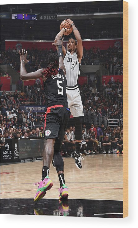 Nba Pro Basketball Wood Print featuring the photograph Demar Derozan by Adam Pantozzi