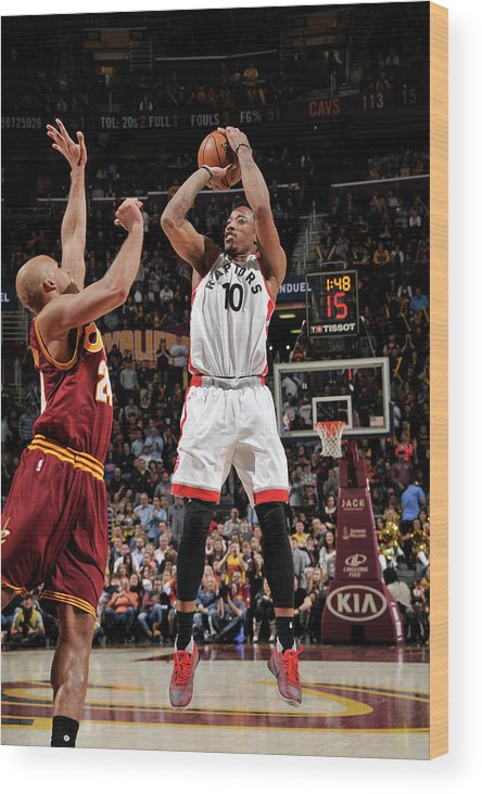 Nba Pro Basketball Wood Print featuring the photograph Demar Derozan by David Liam Kyle