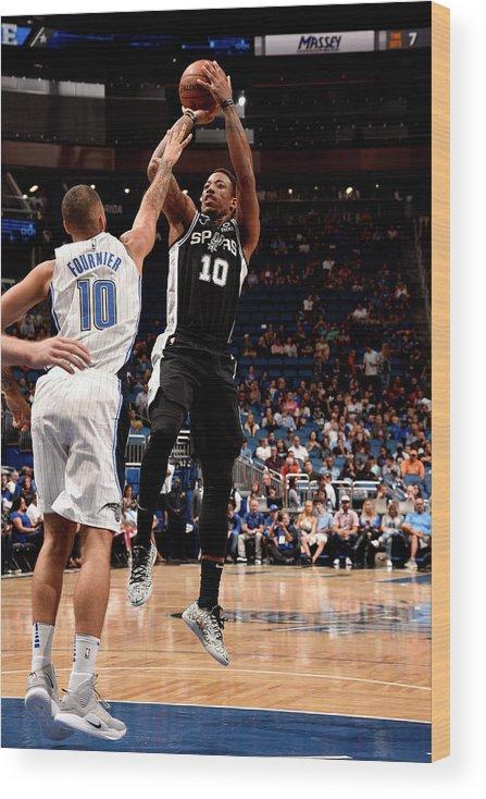 Nba Pro Basketball Wood Print featuring the photograph Demar Derozan by Gary Bassing