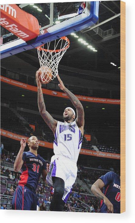 Nba Pro Basketball Wood Print featuring the photograph Demarcus Cousins by Allen Einstein