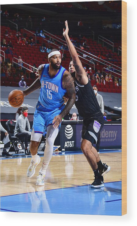 Nba Pro Basketball Wood Print featuring the photograph Demarcus Cousins by Cato Cataldo
