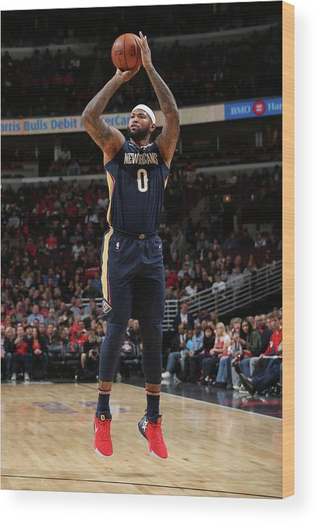 Nba Pro Basketball Wood Print featuring the photograph Demarcus Cousins by Gary Dineen