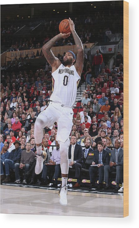 Nba Pro Basketball Wood Print featuring the photograph Demarcus Cousins by Sam Forencich