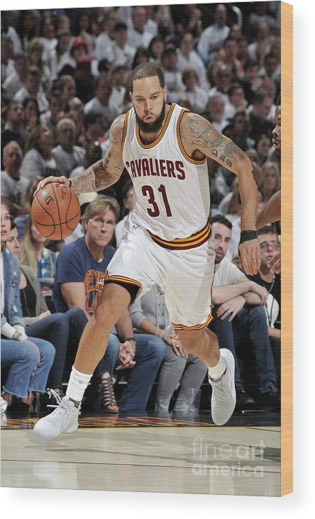 Playoffs Wood Print featuring the photograph Deron Williams by David Liam Kyle