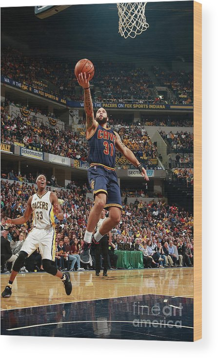 Playoffs Wood Print featuring the photograph Deron Williams by Jeff Haynes