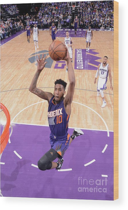 Nba Pro Basketball Wood Print featuring the photograph Derrick Jones by Rocky Widner