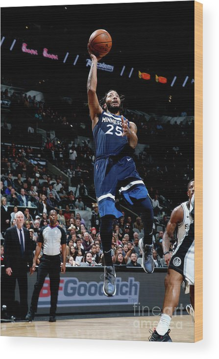 Nba Pro Basketball Wood Print featuring the photograph Derrick Rose by Chris Covatta