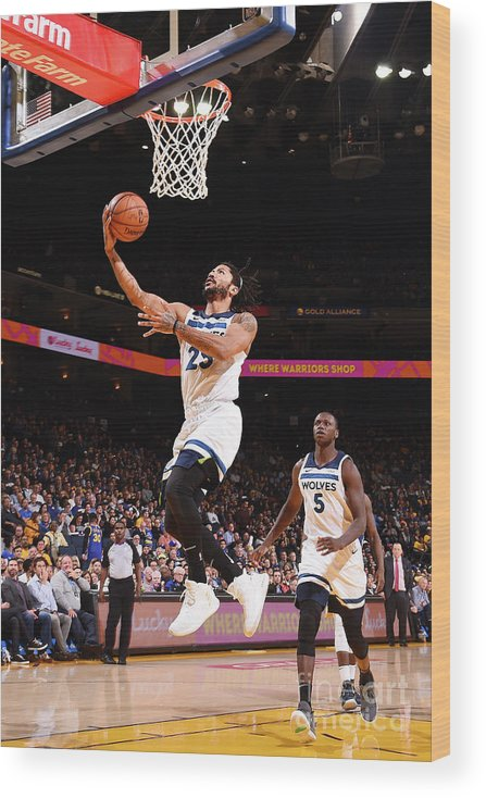 Nba Pro Basketball Wood Print featuring the photograph Derrick Rose by Noah Graham