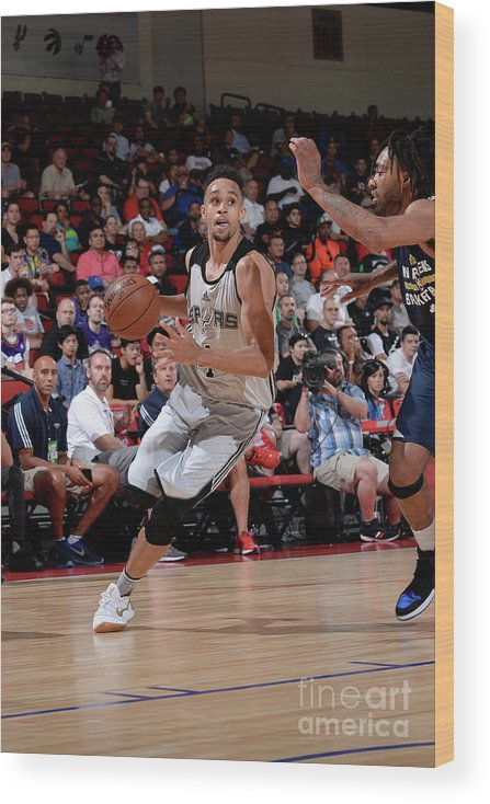 Nba Pro Basketball Wood Print featuring the photograph Derrick White by David Dow