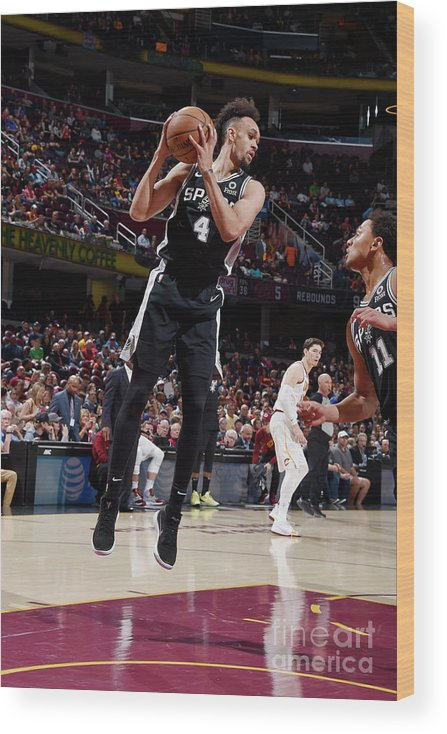 Nba Pro Basketball Wood Print featuring the photograph Derrick White by David Liam Kyle