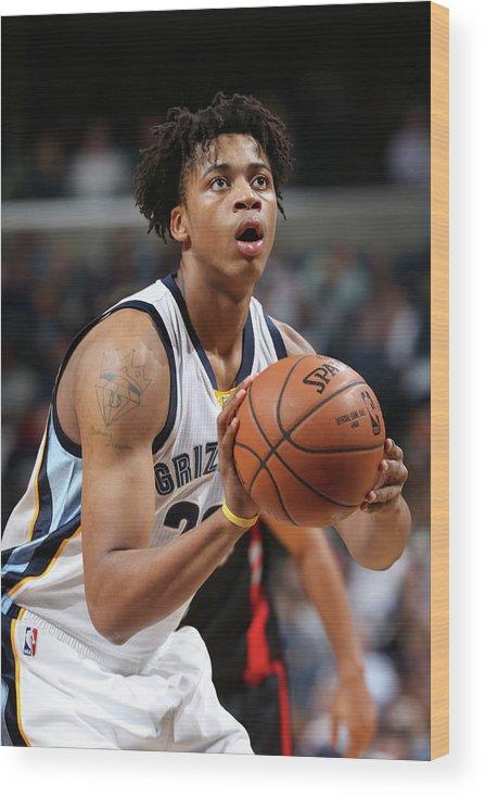 Nba Pro Basketball Wood Print featuring the photograph Deyonta Davis by Joe Murphy