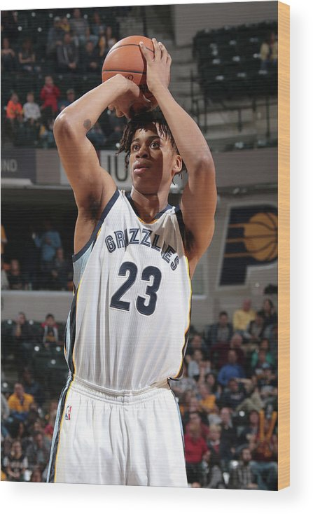 Nba Pro Basketball Wood Print featuring the photograph Deyonta Davis by Ron Hoskins