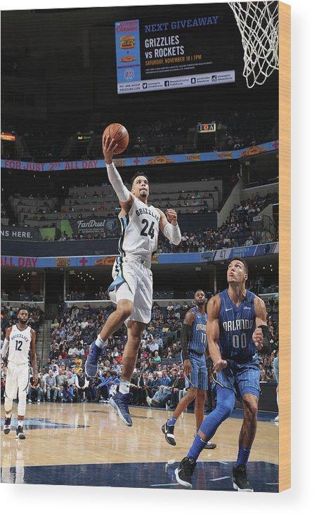 Nba Pro Basketball Wood Print featuring the photograph Dillon Brooks by Joe Murphy