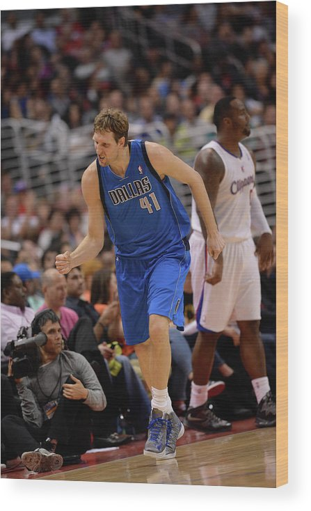 Nba Pro Basketball Wood Print featuring the photograph Dirk Nowitzki by Noah Graham