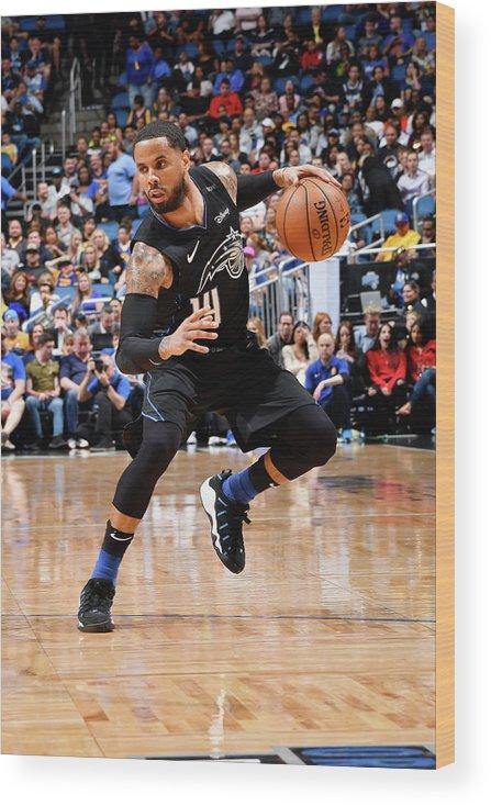 Nba Pro Basketball Wood Print featuring the photograph D.j. Augustin by Fernando Medina