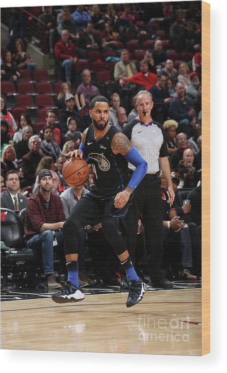 Nba Pro Basketball Wood Print featuring the photograph D.j. Augustin by Gary Dineen