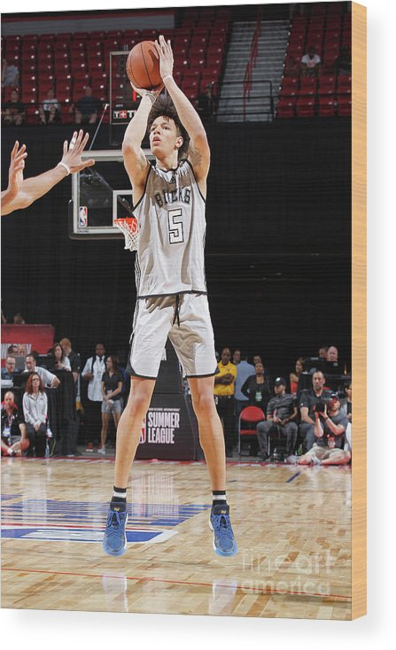 Nba Pro Basketball Wood Print featuring the photograph D.j. Wilson by Jack Arent