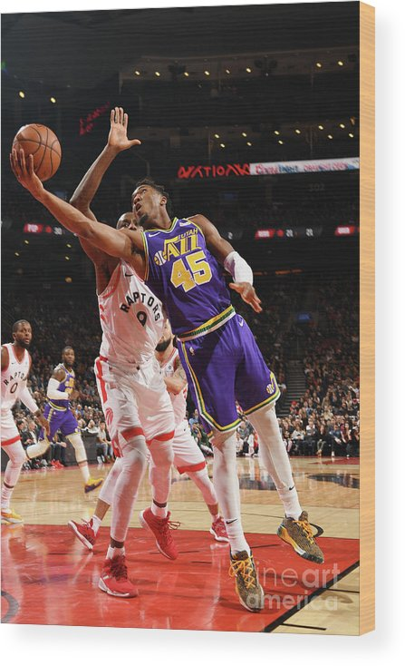Nba Pro Basketball Wood Print featuring the photograph Donovan Mitchell by Ron Turenne