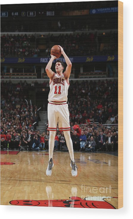 Nba Pro Basketball Wood Print featuring the photograph Doug Mcdermott by Gary Dineen