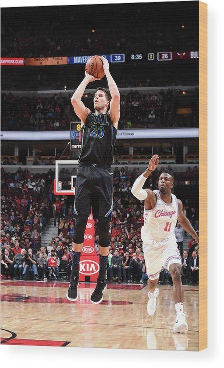 Nba Pro Basketball Wood Print featuring the photograph Doug Mcdermott by Randy Belice
