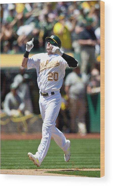 American League Baseball Wood Print featuring the photograph Drew Smyly and Josh Donaldson by Jason O. Watson