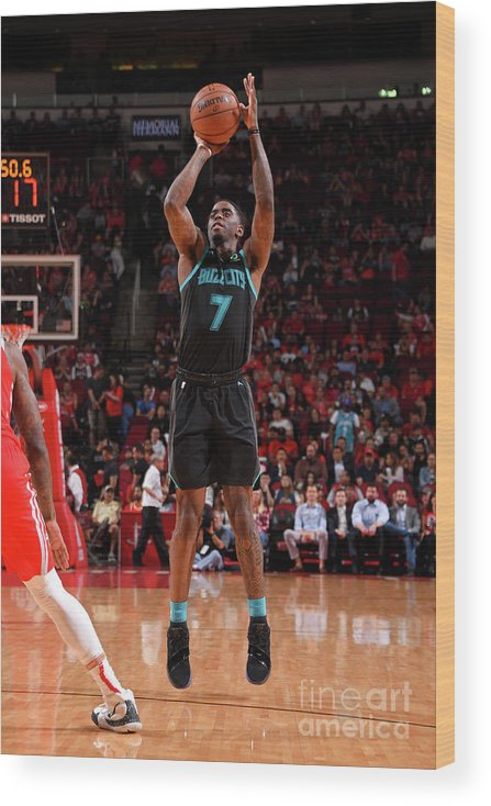 Nba Pro Basketball Wood Print featuring the photograph Dwayne Bacon by Bill Baptist