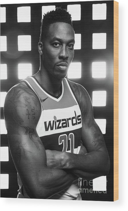 Media Day Wood Print featuring the photograph Dwight Howard by Stephen Gosling