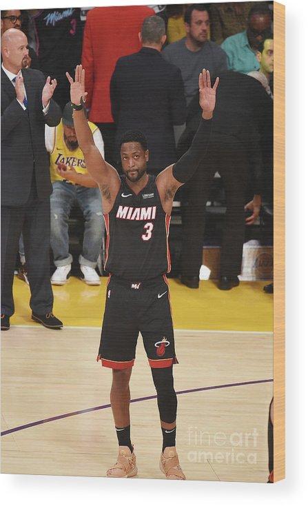 Nba Pro Basketball Wood Print featuring the photograph Dwyane Wade by Adam Pantozzi